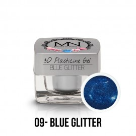 3D Plastelin Gel - 09 - Blue Glitter - 3,5g