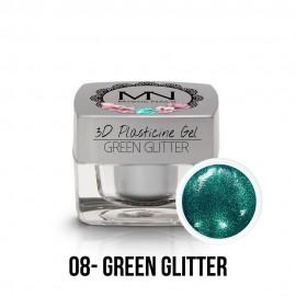 3D Plastelin Gel - 08 - Green Glitter - 3,5g