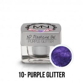 3D Plastelin Gel - 10 - Purple Glitter - 3,5g