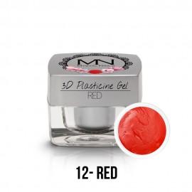 3D Plastelin Gel - 12 - Red - 3,5g