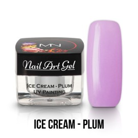 UV Painting Nail Art Gel - Ice Cream - Plum - 4g
