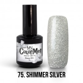 Gel Polish no.75. - Shimmer Silver 12 ml