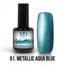 Gel Polish Metallic no.01. - Metallic Aqua Blue 12 ml
