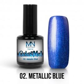 Gel Polish Metallic no.02. - Metallic Blue 12 ml