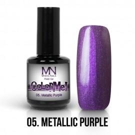 Gel Polish Metallic no.05. - Metallic Purple 12 ml