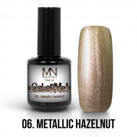 Gel Polish Metallic no.06. - Metallic Hazelnut 12 ml