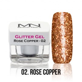 Glitter Gel - no.02. - Rose Copper - 4g