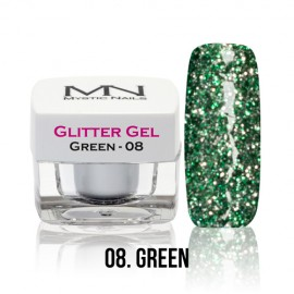 Glitter Gel - no.08. - Green - 4g