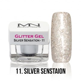 Glitter Gel - no.11. - Silver Sensation - 4g