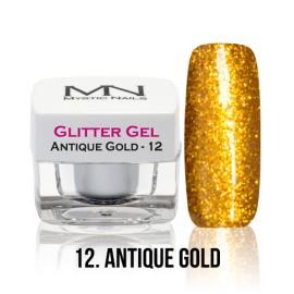 Glitter Gel - no.12. - Antique Gold - 4g