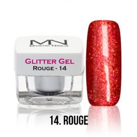 Glitter Gel - no.14. - Rouge - 4g