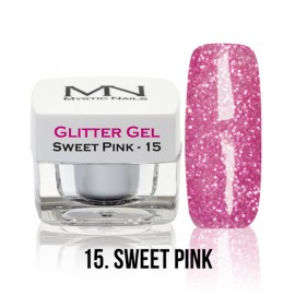 Glitter Gel - no.15. - Sweet Pink - 4g