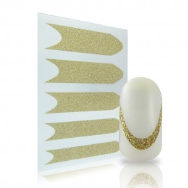 Glitter French Sticker - 01 - Gold