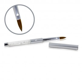Kolinsky Silver Glamour Brush - Flat-peaked - #8