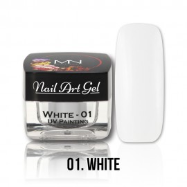 UV Painting Nail Art Gel - 01 - White - 4g