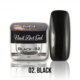 UV Painting Nail Art Gel - 02 - Black - 4g