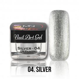 UV Painting Nail Art Gel - 04 - Silver - 4g