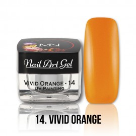 UV Painting Nail Art Gel - 14 - Vivid Orange - 4g
