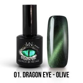 Gel Lak Dragon Eye Effect 01 - Olive 12ml