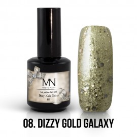 Gel Polish Dizzy no.08. - Dizzy Gold Galaxy 12 ml