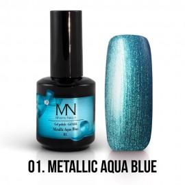 Gel Lak Metallic no.01. - Metallic Aqua Blue 12 ml