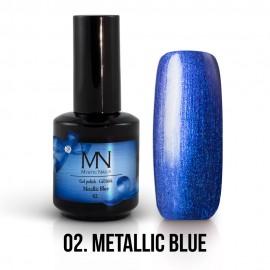 Gel Lak Metallic no.02. - Metallic Blue 12 ml
