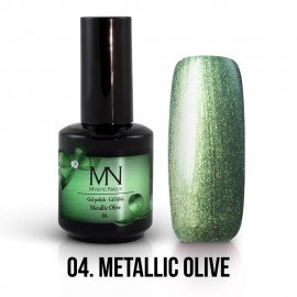 Gel Polish Metallic no.04. - Metallic Olive 12 ml