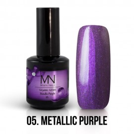 Gel Polish Metallic no.05. - Metallic Purple 12 ml