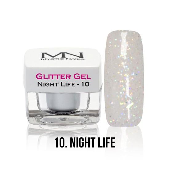 Glitter Gel - no.10. - Night Life - 4g