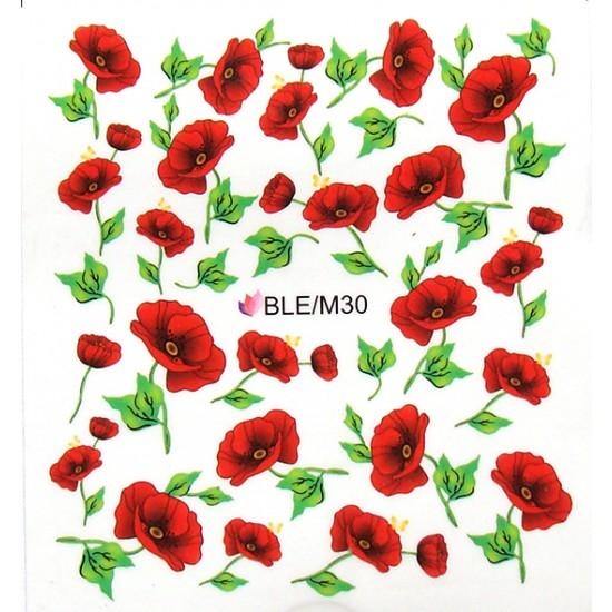 Flower pattern sticker - BLE/M30