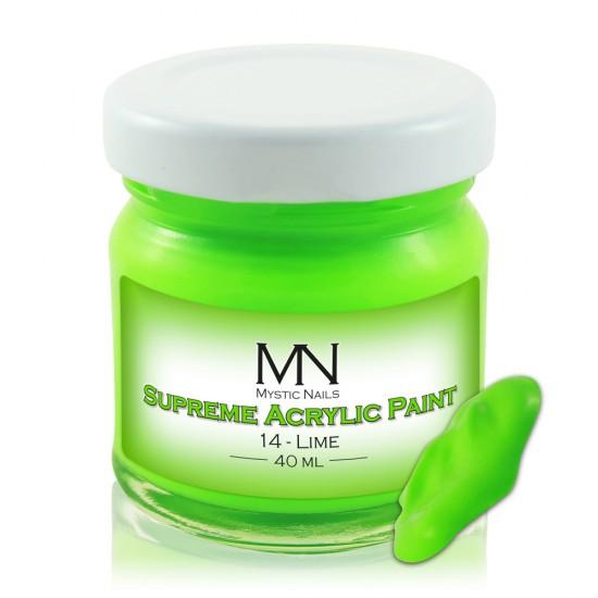Supreme Akrilna boja - no.14. Lime - 40 ml