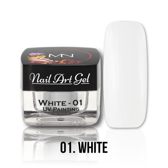 UV Painting Nail Art Gel - 01 - White - 4g