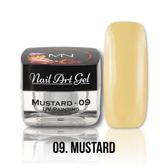 UV Painting Nail Art Gel - 09 - Mustard -4g