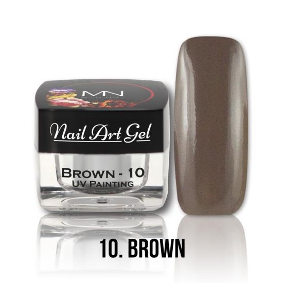 UV Painting Nail Art Gel - 10 - Brown - 4g