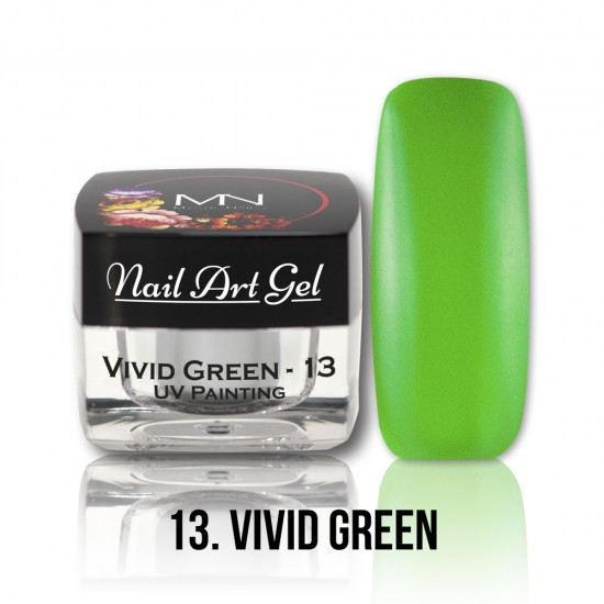 UV Painting Nail Art Gel – 13 - Vivid Green