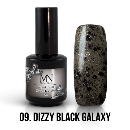 Gel Polish Dizzy no.09. - Dizzy Black Galaxy 12 ml